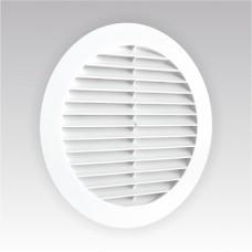 10РК решетка вентиляционная круглая Д130 вытяжная полистеролс фланцем Д100