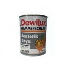 DEWILUX молотковая эмаль 2013 желтая, 0,75л