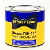 Эмаль ПФ-115 белая Mister Dom фас 1,8кг./6