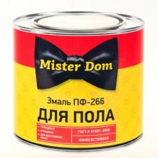 Эмаль ПФ-266 для пола желто-коричневый Mister Dom фас 0,8кг/14шт.